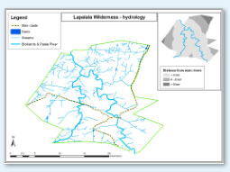 Lapalala hydrology map