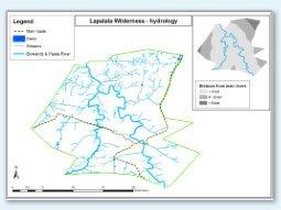 Lapalala hydrology map